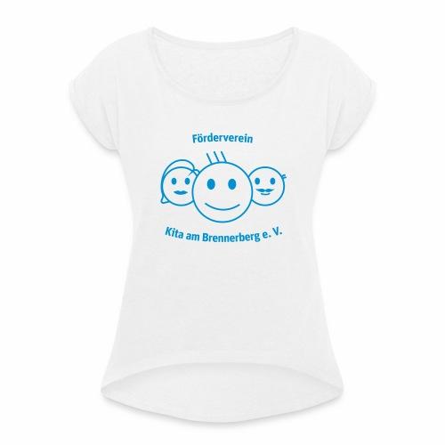 Logo Förderverein - Frauen T-Shirt mit gerollten Ärmeln