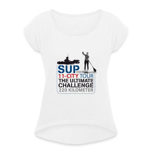 SUP11 City Tour Logo Shirt - Women's T-Shirt with rolled up sleeves
