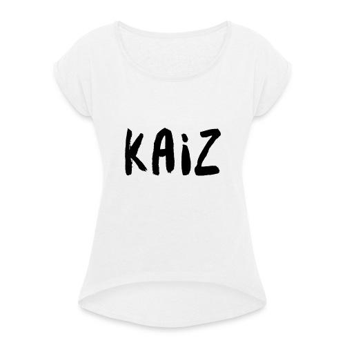 KAIZ LOGO 2 - Maglietta da donna con risvolti