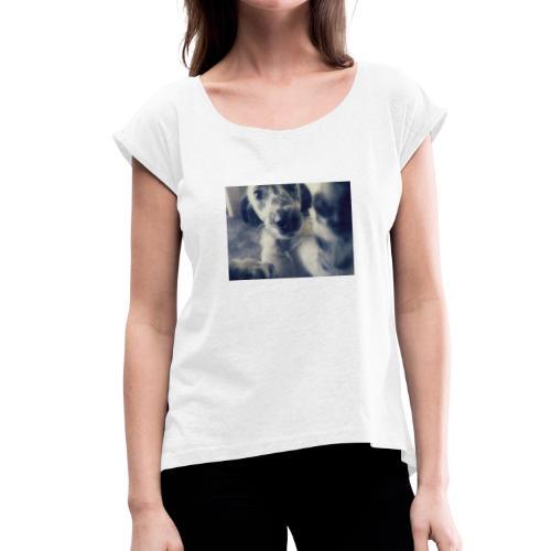 Mestizo - Camiseta con manga enrollada mujer