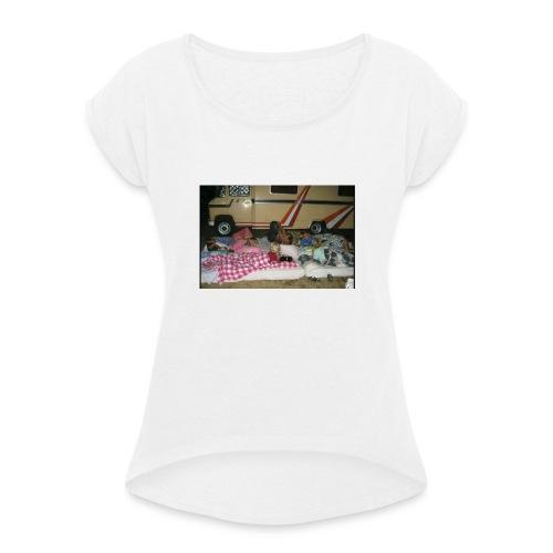 hoiikben - Vrouwen T-shirt met opgerolde mouwen