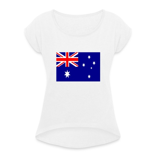 Australia flag - Women's T-Shirt with rolled up sleeves