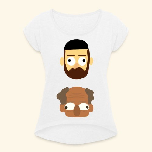 Makkers - Vrouwen T-shirt met opgerolde mouwen