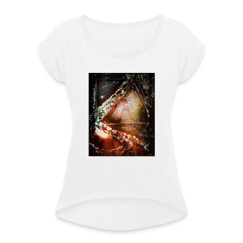 Verfangen in Struktur - Frauen T-Shirt mit gerollten Ärmeln