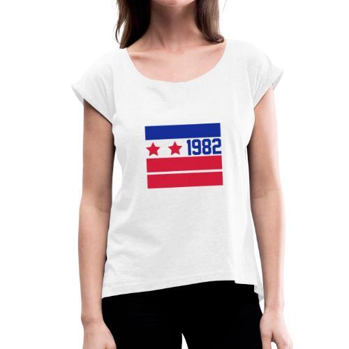 80Sy - Maglietta da donna con risvolti