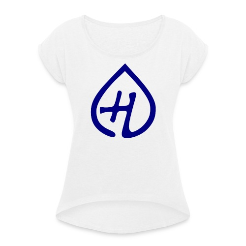 Hangprinter logo - T-shirt med upprullade ärmar dam