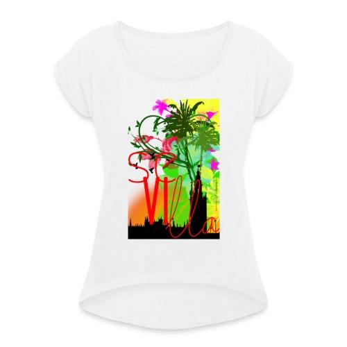 Sevilla - Camiseta con manga enrollada mujer