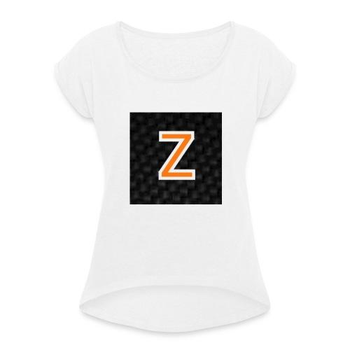 Zaragon Collection - T-shirt med upprullade ärmar dam