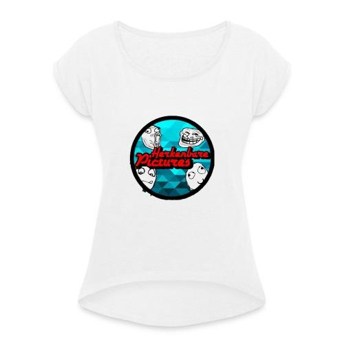 IMG_0637 - Vrouwen T-shirt met opgerolde mouwen