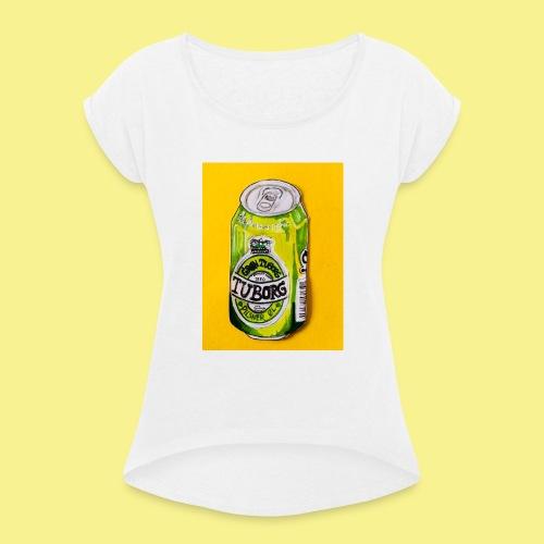 Gul Øller's - Dame T-shirt med rulleærmer