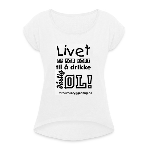 Møre&Romsdal Heimebryggarlaug t-shirt - T-skjorte med rulleermer for kvinner