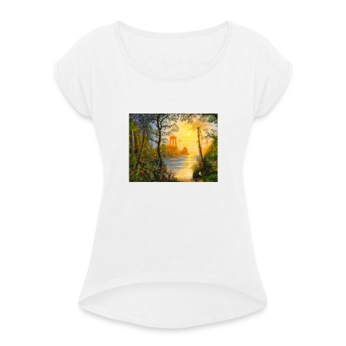 Temple of light - Women's T-Shirt with rolled up sleeves