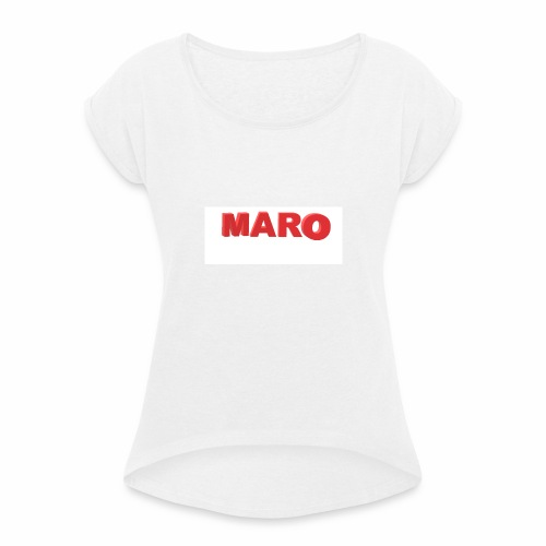 MARO VETEMENT - T-shirt à manches retroussées Femme