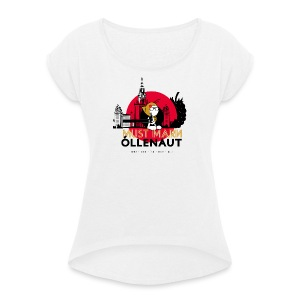 Õllenaut Must Mari - Women's T-shirt with rolled up sleeves