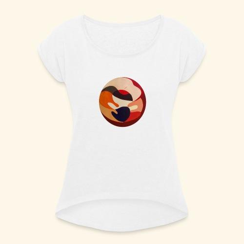 Mutter und Kind - Frauen T-Shirt mit gerollten Ärmeln