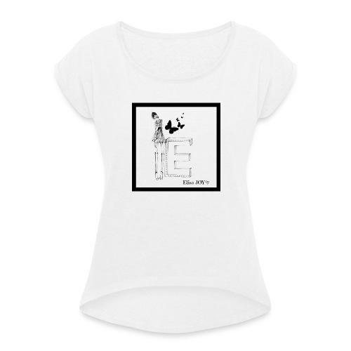 lettera - Maglietta da donna con risvolti