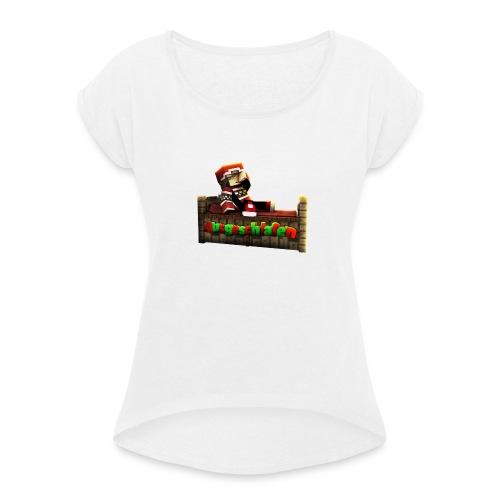 #Ausgeschlafen Weihnachts-Hoddie - Frauen T-Shirt mit gerollten Ärmeln