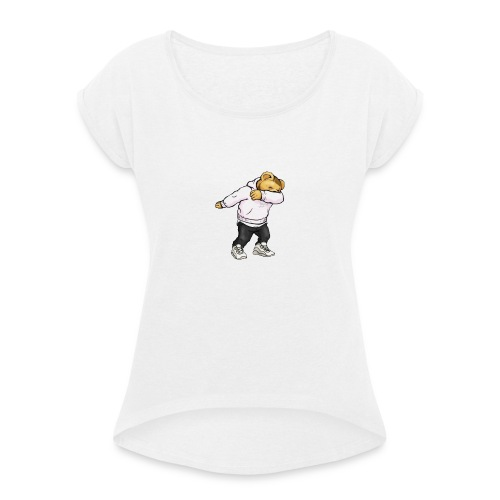 DAB-BRKY - Frauen T-Shirt mit gerollten Ärmeln