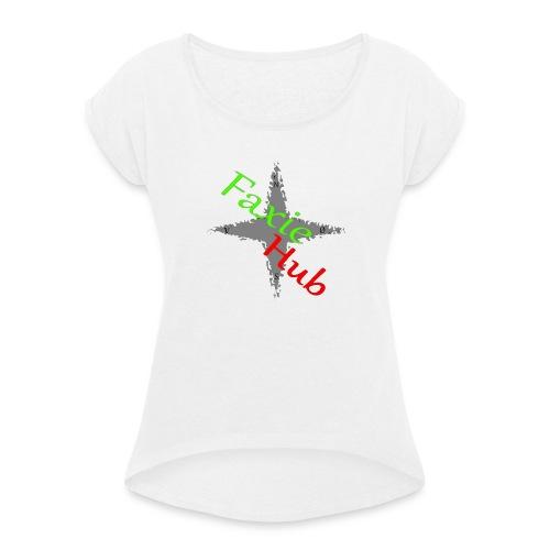 FaxieHub - Dame T-shirt med rulleærmer