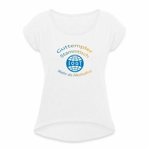 Guttempler Merchandise - Frauen T-Shirt mit gerollten Ärmeln