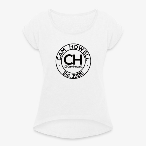 CH Twitch Logo. - Women's T-Shirt with rolled up sleeves