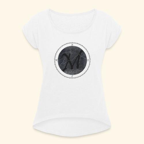 Montis logo2 - T-shirt med upprullade ärmar dam