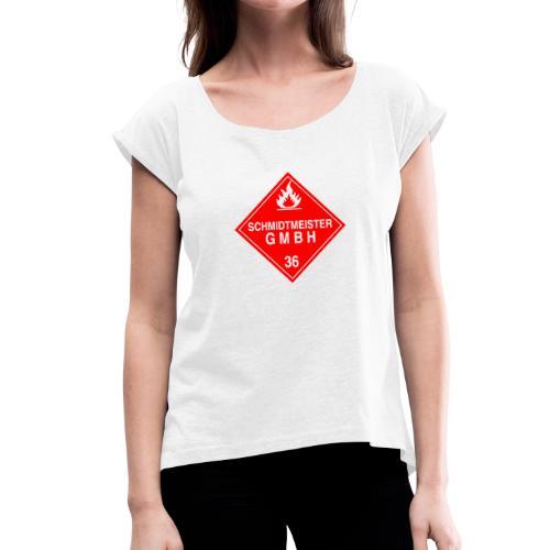 Schmidtmeister GMBH - Frauen T-Shirt mit gerollten Ärmeln