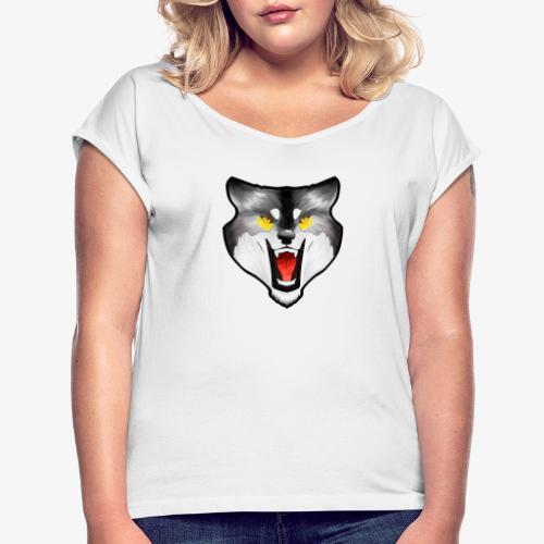 Loup Gris - T-shirt à manches retroussées Femme