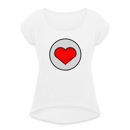Robert Cœur - T-shirt à manches retroussées Femme
