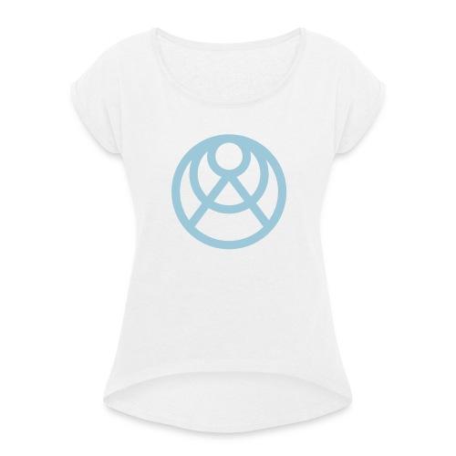 Faråkra symbol blå - T-shirt med upprullade ärmar dam