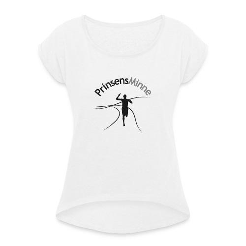 PrinsensMinne logga - T-shirt med upprullade ärmar dam
