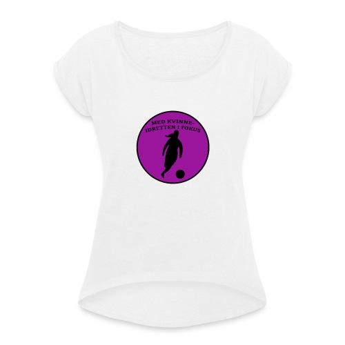 Logo - T-skjorte med rulleermer for kvinner