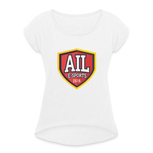 AILESPORTSV3-png - Maglietta da donna con risvolti