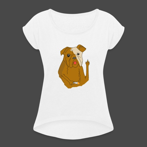 Smokey the Dog - Women's T-shirt with rolled up sleeves