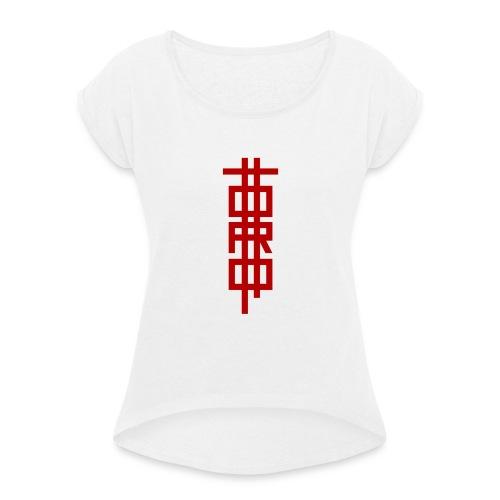 TTORO (I) - Camiseta con manga enrollada mujer