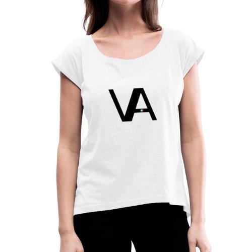 VA-Nr.I - Frauen T-Shirt mit gerollten Ärmeln