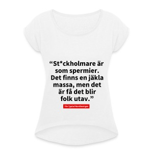 The Typical Stockholmare - T-shirt med upprullade ärmar dam