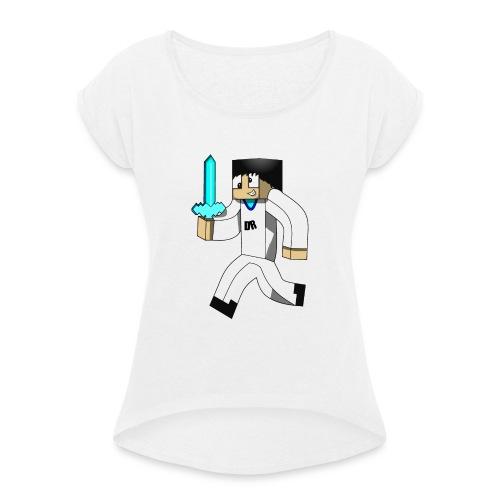 JerenGamer - T-skjorte med rulleermer for kvinner