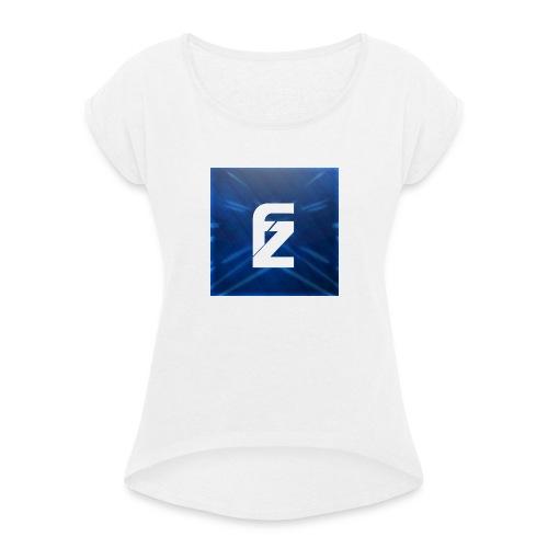 Sport short - Vrouwen T-shirt met opgerolde mouwen