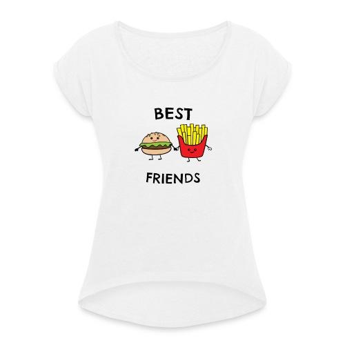 Best Fiends Shirt - Frauen T-Shirt mit gerollten Ärmeln