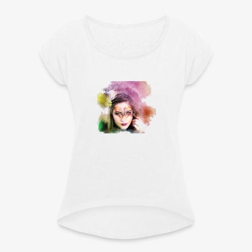 Girl colore - T-shirt à manches retroussées Femme