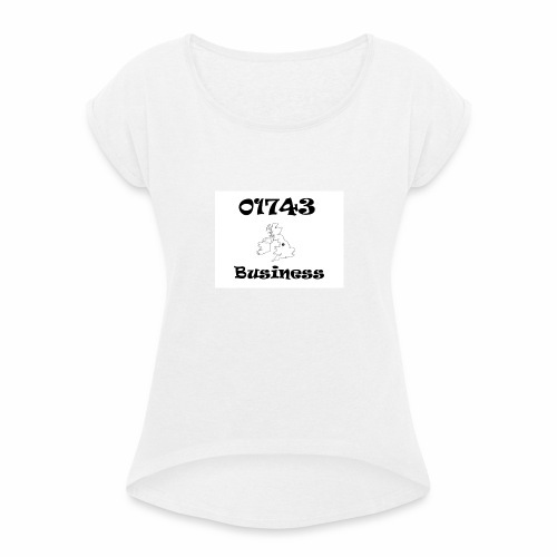 01743 Business - Women's T-Shirt with rolled up sleeves
