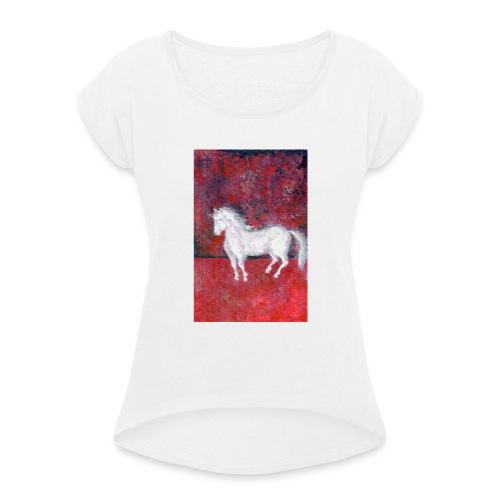 Pony - Koszulka damska z lekko podwiniętymi rękawami