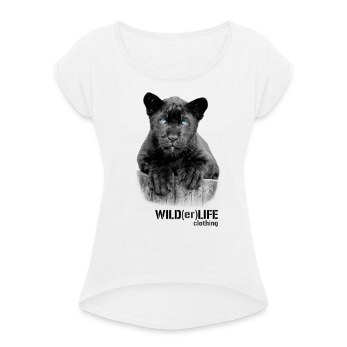 Little Bluey - Women's T-shirt with rolled up sleeves