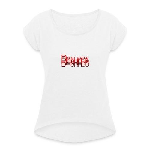 Daskade Overflow - Vrouwen T-shirt met opgerolde mouwen