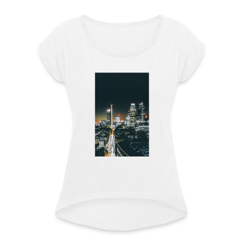 London night light - Women's T-Shirt with rolled up sleeves