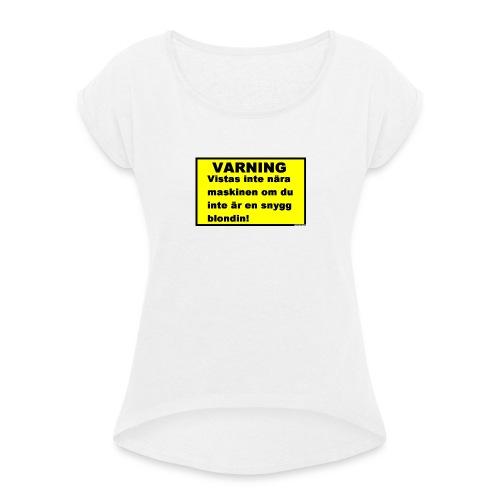skal till HTC - T-shirt med upprullade ärmar dam