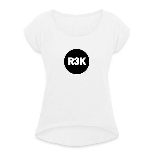R3K Logo - Women's T-shirt with rolled up sleeves