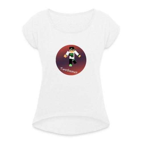 Hoodie met TwoGames logo - Vrouwen T-shirt met opgerolde mouwen