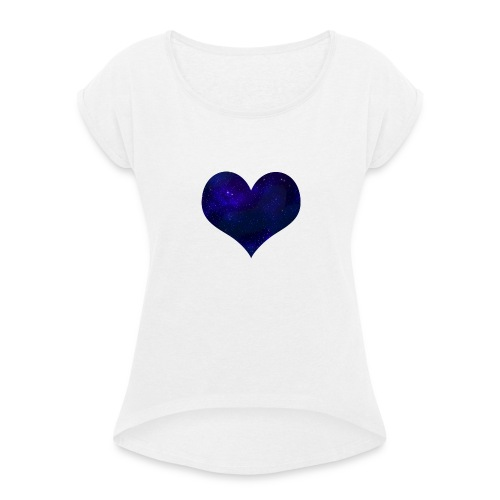 Love from outer space - Women's T-Shirt with rolled up sleeves